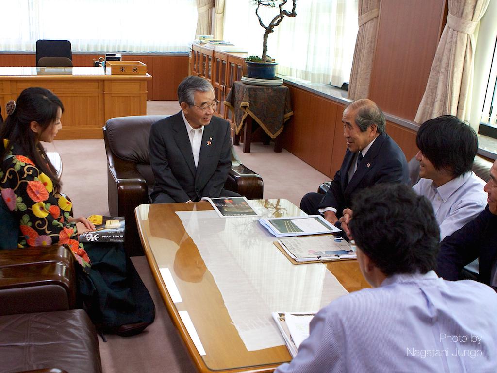 溝口県知事を表敬訪問