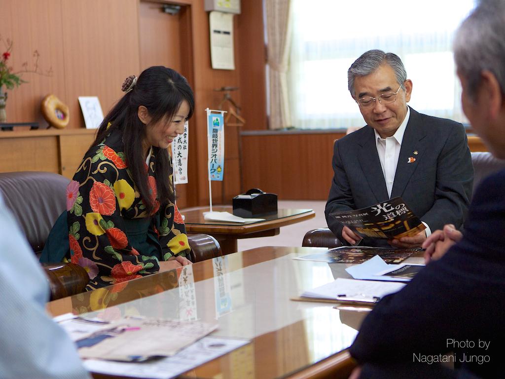 県知事を表敬訪問。