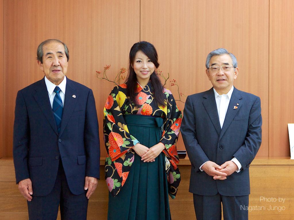 県知事と記念撮影