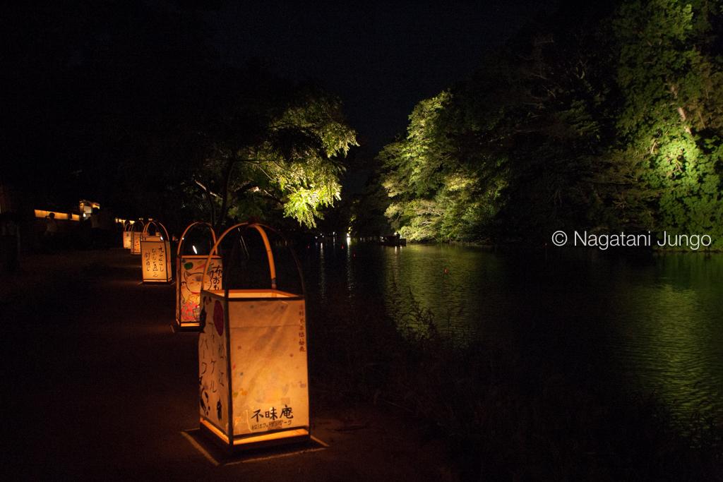 水燈路 塩見縄手の行燈と光船