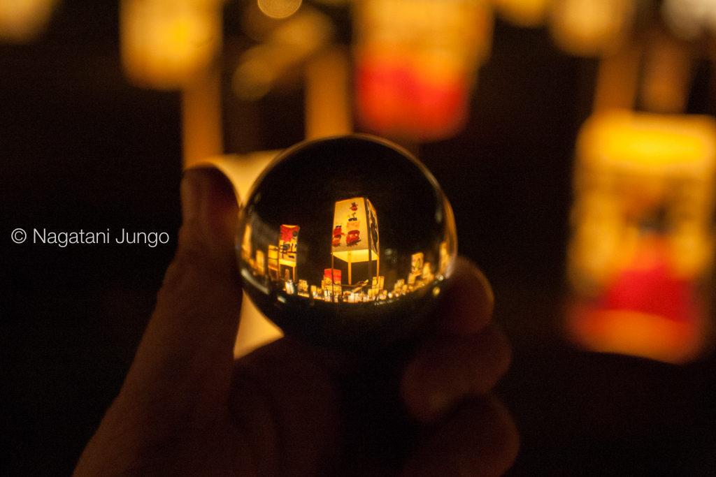 ガラスボール in 松江水燈路2015