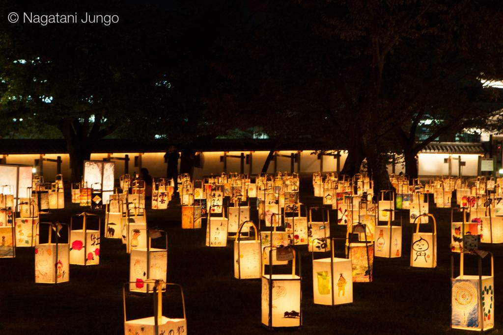 松江水燈路、平日の松江城二の丸