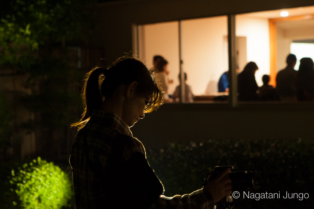 田部美術館にて(松江水燈路2015)