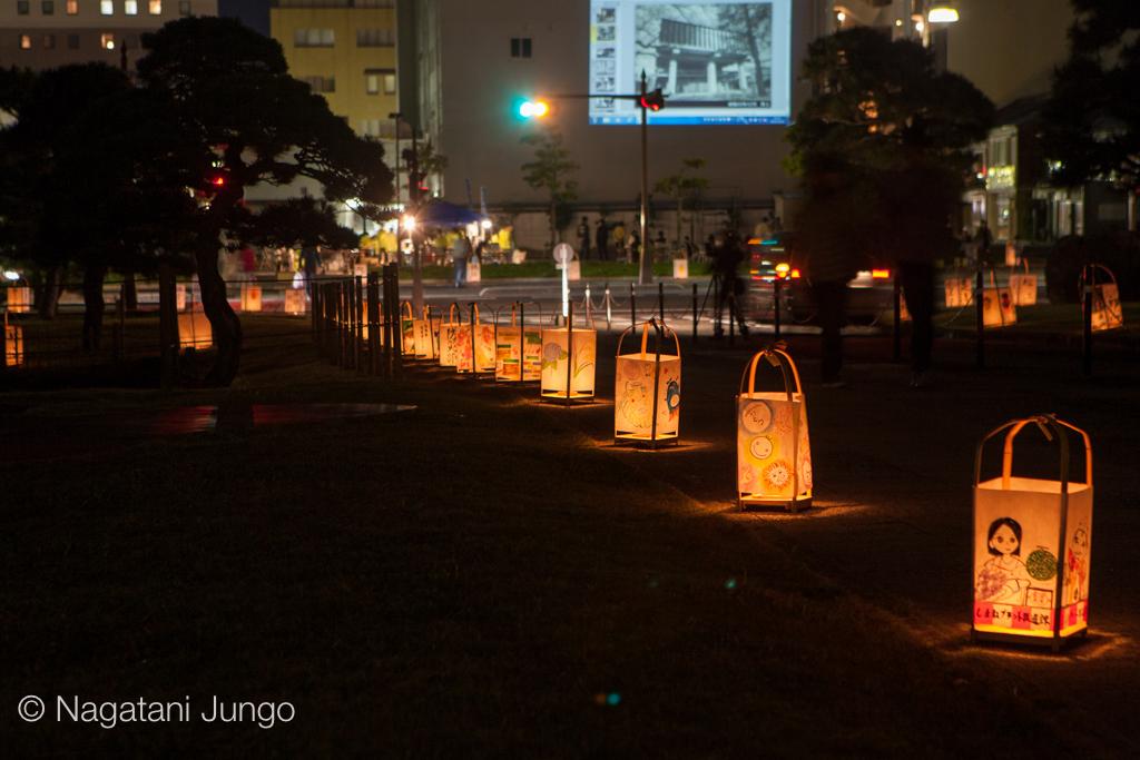 県庁庭園水燈路「結いとうろ」