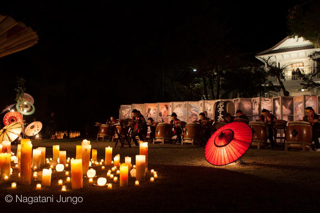 松江水燈路2015 イベントファイナル〜国宝松江城を彩る行灯の光