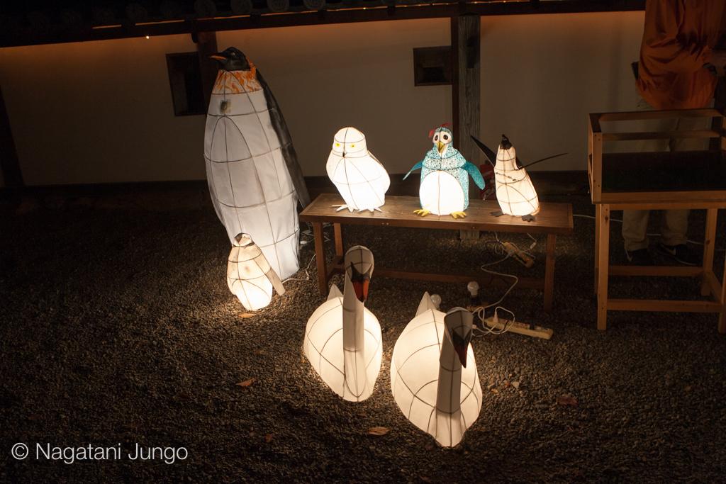 鳥を型どった「ねぶた型行灯」(松江水燈路2015)