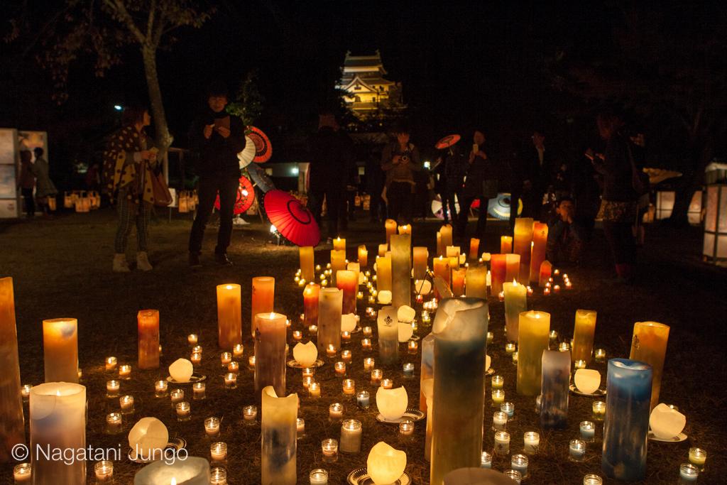 empfangen-candle キャンドル展示 松江水燈路2015