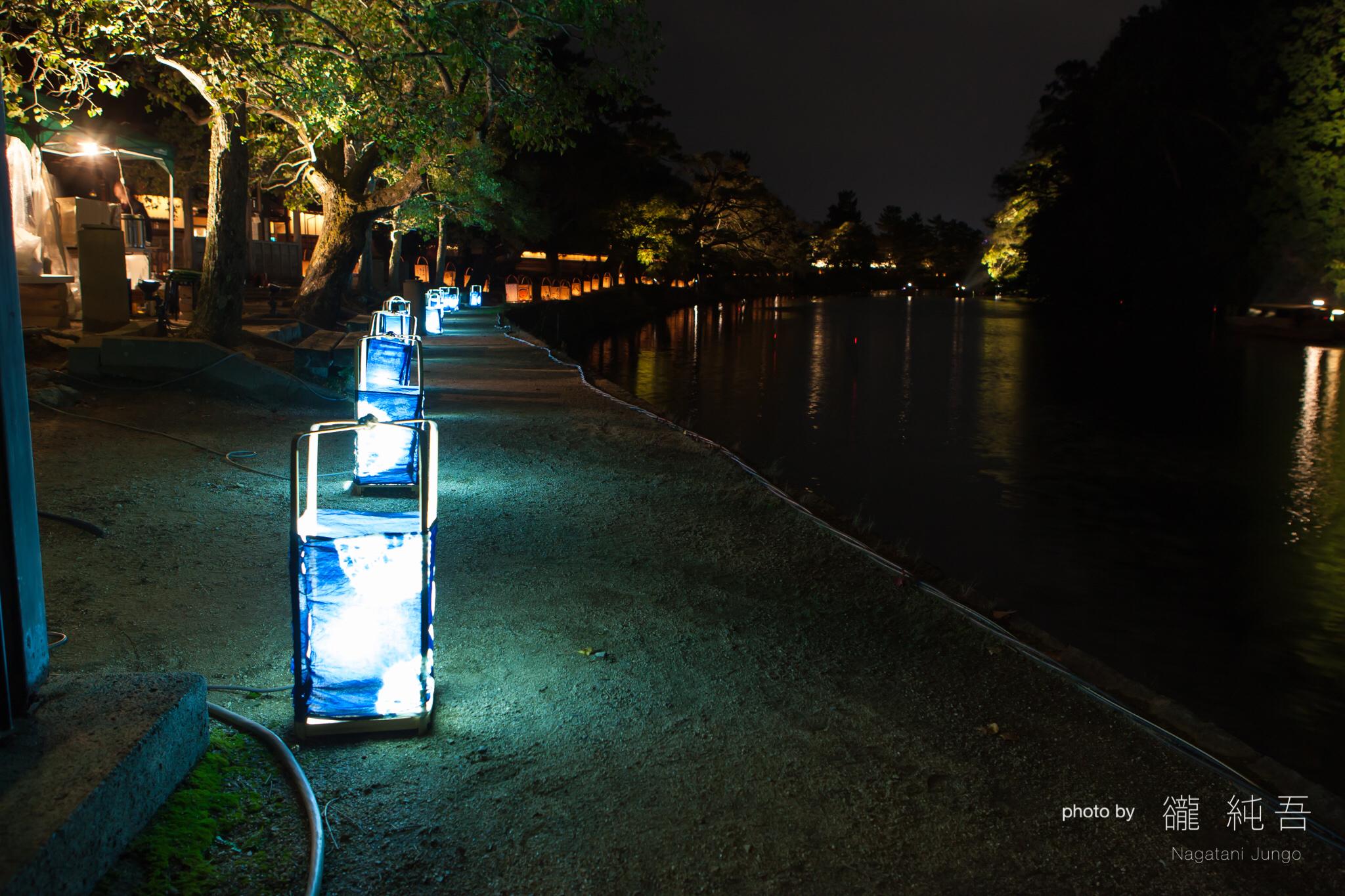 松江水燈路 藍染行灯
