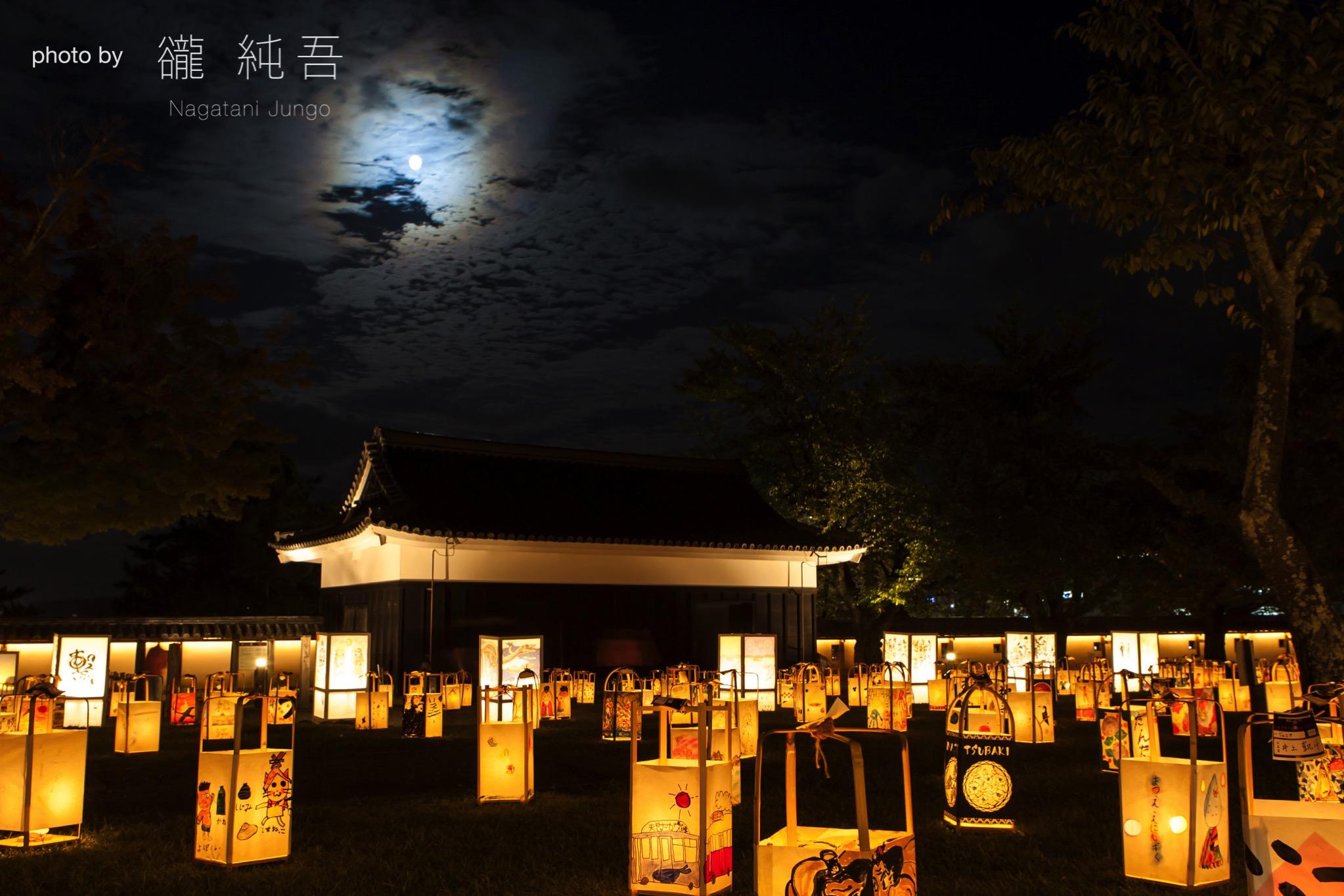 中秋の名月(十五夜の月)~松江水燈路2017