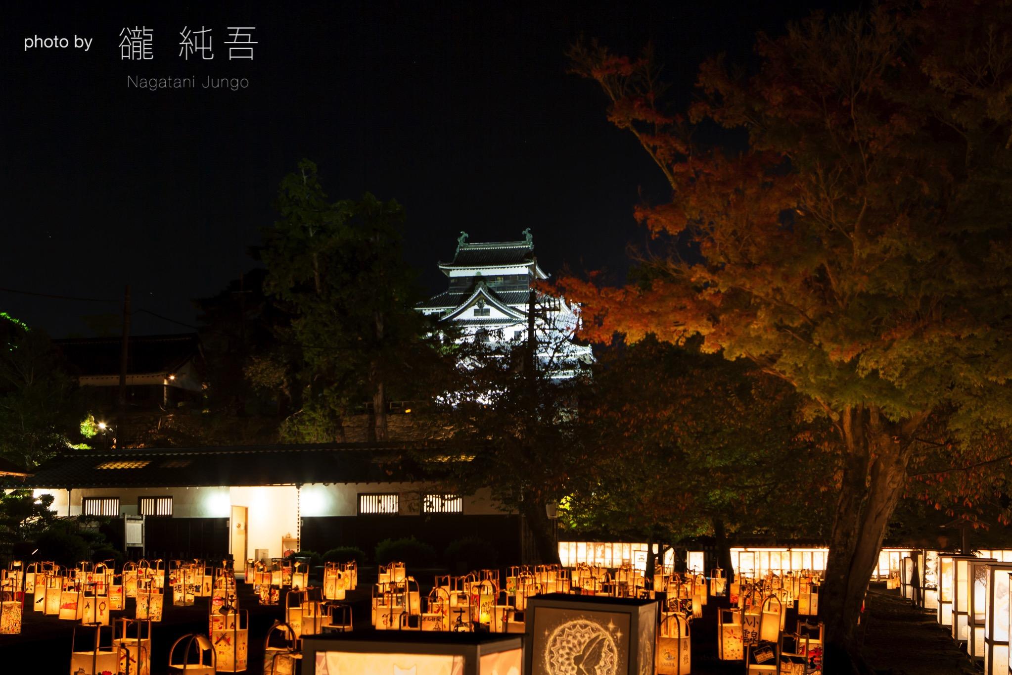 松江城二の丸 上の段~松江水燈路2017