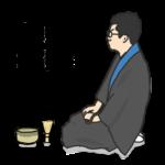 豅 純吾 プロフィールイラスト画像(お茶)